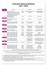 Calendrier National FFAAA 2017-2018